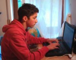Alessio on the computer