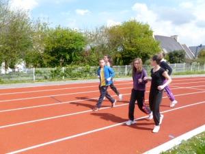 Hugo on the running track
