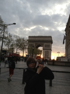 Simon, Mrs Foxy in Paris.