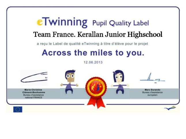 Etwinning label fiiled in