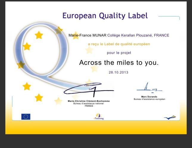 label européen acrossthemilestoyou
