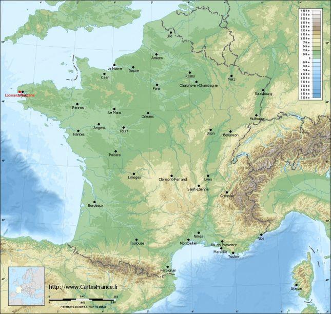 carte-relief-lambert-grandes-villes-Locmaria-Plouzane